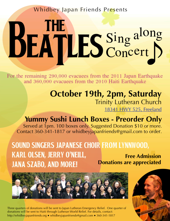 Oct 19th Beatles Concert-Poster